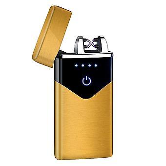 חדש hb-020-זהב סאטן אופנה כפולה קשת אלקטרונית מגע חכם קל USB אינדוקציה נטענת sm41895