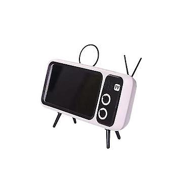 Drahtloser Bluetooth-Lautsprecher Retro TV Handy Halterung 2 in 1