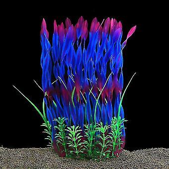 Velké akvarijní rostliny umělé plastové akvária rostliny dekorace (fialová)