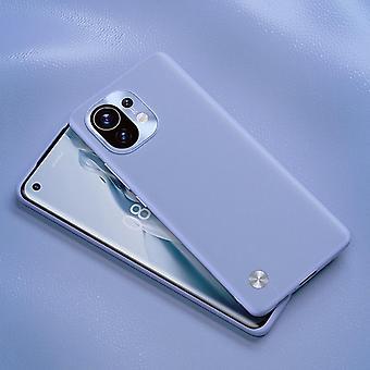 Étui de téléphone en cuir uni avec housse de protection tout compris à lentille métallique