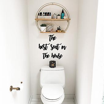 De beste stoel ?n Het huis zwarte decoratieve houten muur accessoire
