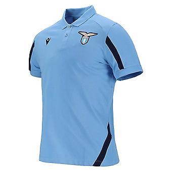 2021-2022 Lazio Poly Bomull Polo Shirt (Blå)