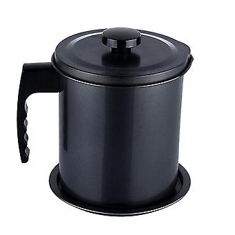 1.3L Leakproof Can Grease Container Kitchen Tool Kettle Cooking Separator Multifunction Frying Pot