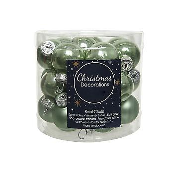 25 2,5 cm vise grön glas julgran bauble dekorationer