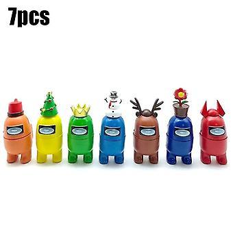 (7PCS/Set) 7/12 PCS/Set Among Us Action Figures Collection PVC Dolls Game Toys Kids Gifts