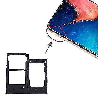 מגש כרטיס SIM + מגש כרטיס SIM + מגש כרטיס מיקרו SD עבור Samsung Galaxy A20e (שחור)
