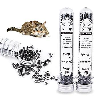 Pet kat kuld deodorizing pulver fjerne bambus trækul aktiveret carbon box pet lugt neutralisator