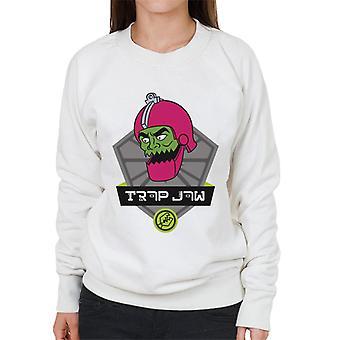 Mästare i universum trap käke karaktär huvudet kvinnors sweatshirt