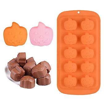 Halloween 3d Mold, Pumpkin, Chocolate, Candy, Silicone For Baking And Cake Decorating