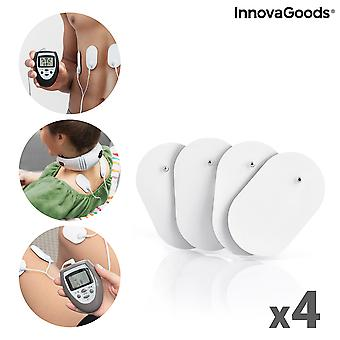Replacement Patches for Electrodes EMS InnovaGoods Pack of 4 units