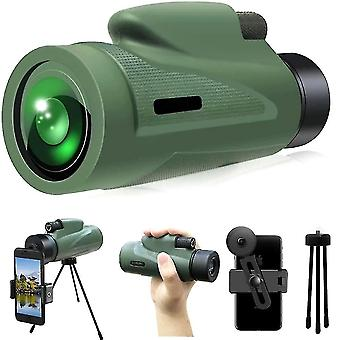 Monocular Scope Telescope Low Light Night Vision With Quick Smartphone Holder 12x50 Hd
