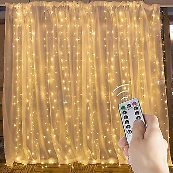 Curtain String Lights 300 Led Window Lights For Christmas Bedroom Part