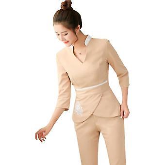 ملابس ملابس التجميل النسائية ملابس العمل، الفنان موحدة