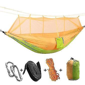 الأراجيح أرجوحة مظلة الناموسية الخفيفة للغاية مع لدغات مضادة للبعوض لخيمة التخييم في الهواء الطلق باستخدام