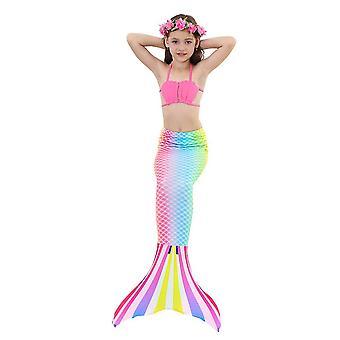 3buc Mermaid pentru înot Mermaid Costum Bikini Set Nou
