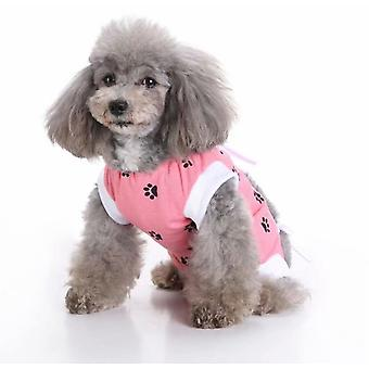 Pet Clothing, Dog Clothing, Sterilization Clothing, Dog Rehabilitation Clothing, Pet Injury Protective Clothing, Pet Supplies (pink S)