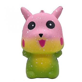 Caraele Kawaii Squishy Pikachu Colorful Galaxy Simulated Pokemon Fidget Toy Slow Rising Antistress Stress Relief Soft Squeeze Kids Toys
