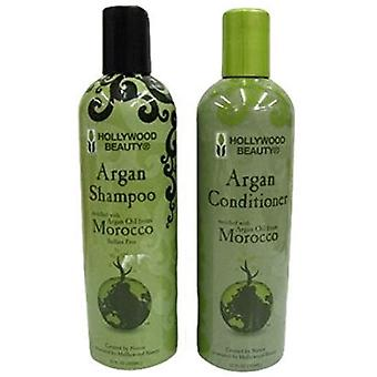 MOROCCAN ARGAN OIL HAIR GROWTH SHAMPOO & CONDITIONER HEALING SHINE TREATMENT