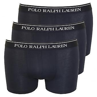 Polo Ralph Lauren 3-Pack Classic Boxer Trunks, Navy