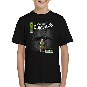 Quailman No More Doug Comic Superhero Kid's T-Shirt