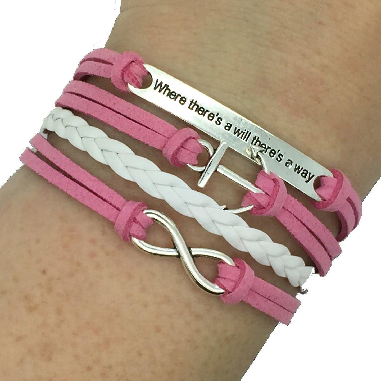 (B17) Vintage Handmade Infinity 8 Anchor Statement Leather Bracelet Wristband including gift box by Boolavard® TM