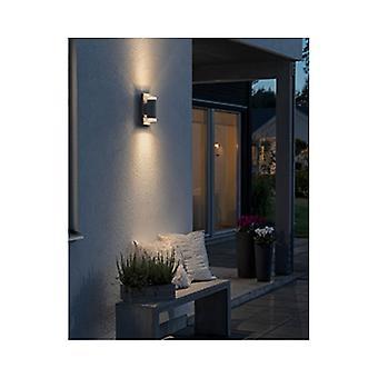 LED ウォール ライト ダウンを Konstsmide ポテンザ グレー ガーデン