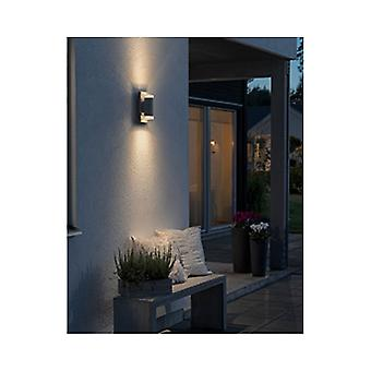 Konstsmide Potenza Grey Garden Up Down LED Wall Light