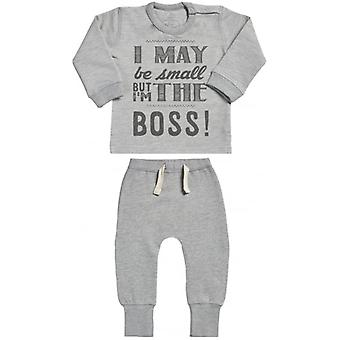 Spoilt Rotten I May Be But I'm The Boss Sweatshirt & Joggers Baby Outfit Set