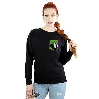 Looney Tunes kvinders Marvin Martian ansigt Faux lomme Sweatshirt