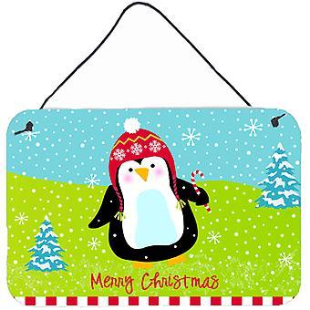 Merry Christmas Happy Penguin Wall or Door Hanging Prints
