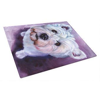 Carolines Treasures  7400LCB Whatsup Westie Glass Cutting Board Large