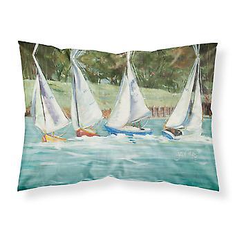 Sailboats on the bay Fabric Standard Pillowcase
