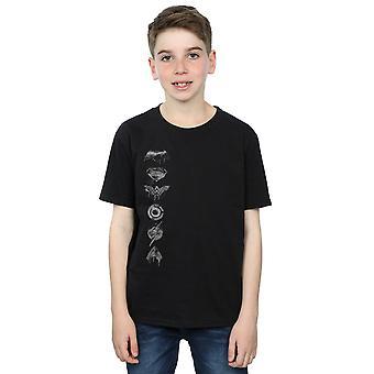 DC Comics Jungen Justice League Film gesprüht Wappen T-Shirt
