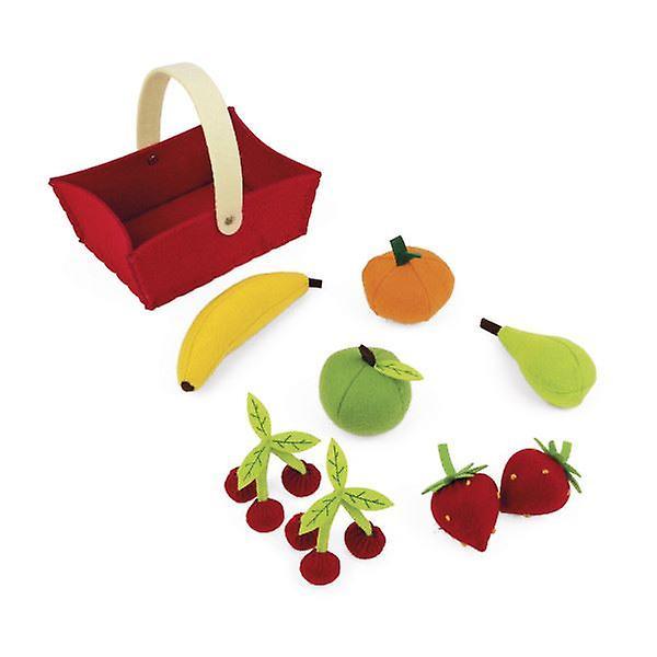 Janod Fabric Fruit Basket with 8 Fruits