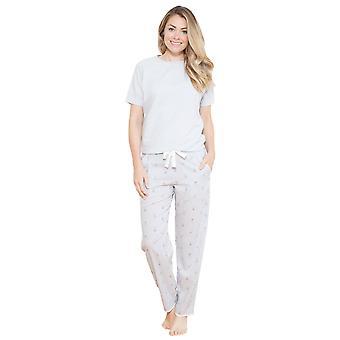 Cyberjammies 3693 vrouwen Beetrix grijs effen kleur Pajama pyjama's Top