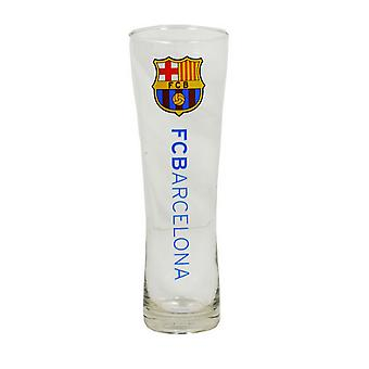 FC Barcelona Official Wordmark Football Crest Peroni Pint Glass