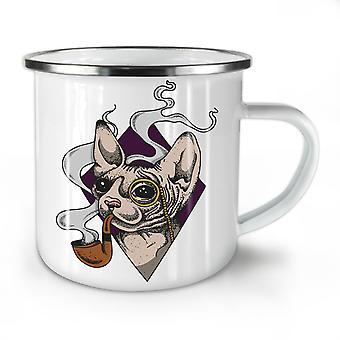 Sphynx Smoke Cool Cat NEW WhiteTea Coffee Enamel Mug10 oz | Wellcoda