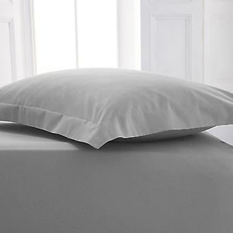 Percale Polycotton Flat Sheet Single Silver