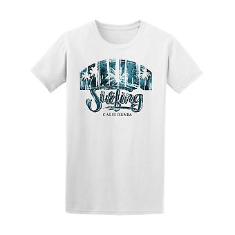 Malibu Surfing Blue Graphic Tee - Image by Shutterstock
