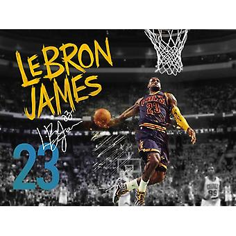 Lebron James Poster Cleveland Cavaliers 23 Photo Art Print (24x18)