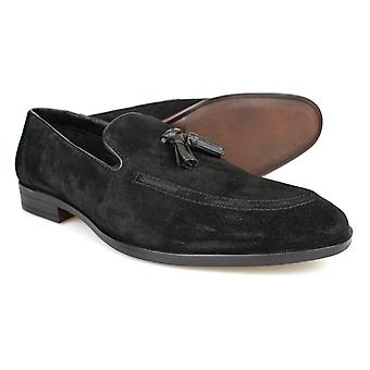 Red Tape Cobham Black Suede Mens Tasseled Loafers Casual Shoes