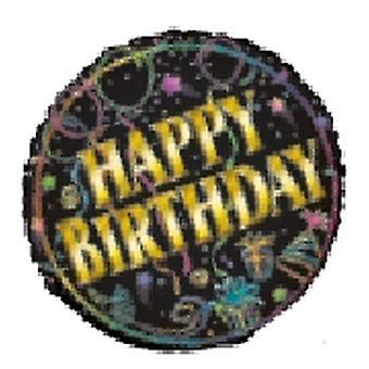 Feuille de ballon joyeux anniversaire avec brio
