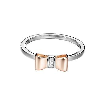 ESPRIT women's ring silver zirconia BI-COLOR ESRG92769D1