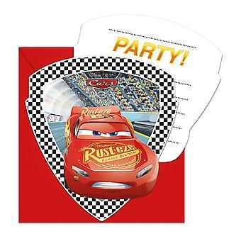 Uitnodiging uitnodigingen uitnodiging kaart auto's 3 jonge geitjes partij verjaardag 6 stuks