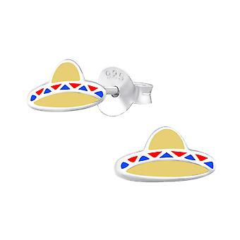 Sombrero - 925 Sterling Silver Colourful Ear Studs - W33550x