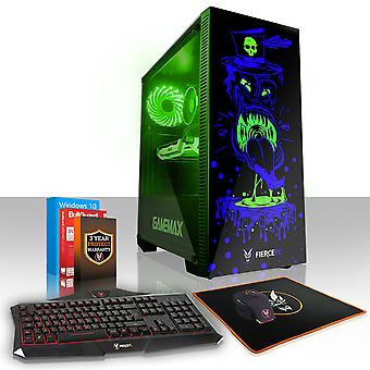 Felle GOBBLER Gaming PC, snelle Intel Core i5 7400 3.5 GHz, 120 GB SSD, 2 TB HDD, 8 GB RAM, RTX 2060 6 GB