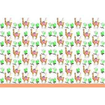 Lama Cactus party tablecloth 120 x 180 cm 1piece children birthday theme party