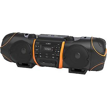 Reflexion CDR1000BT Boombox FM AUX, Bluetooth, CD, USB zwart, oranje