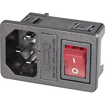 K & B 59JR101-1FRS-LR150 IEC connector 59JR Series (mains connectors) 59JR Plug, vertical mount Total number of pins: 2 + PE Black 1 pc(s)