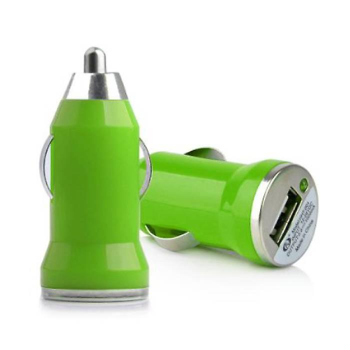 Stuff Certified® iPhone / iPad / iPod AAA + USB Car Charger 5V - 1A - Fast charging - Green